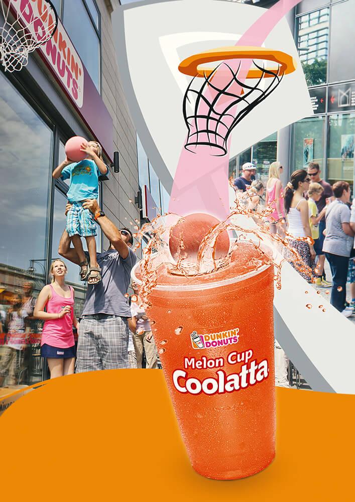 DUNKIN' Anzeige Melon Cup Coolatta