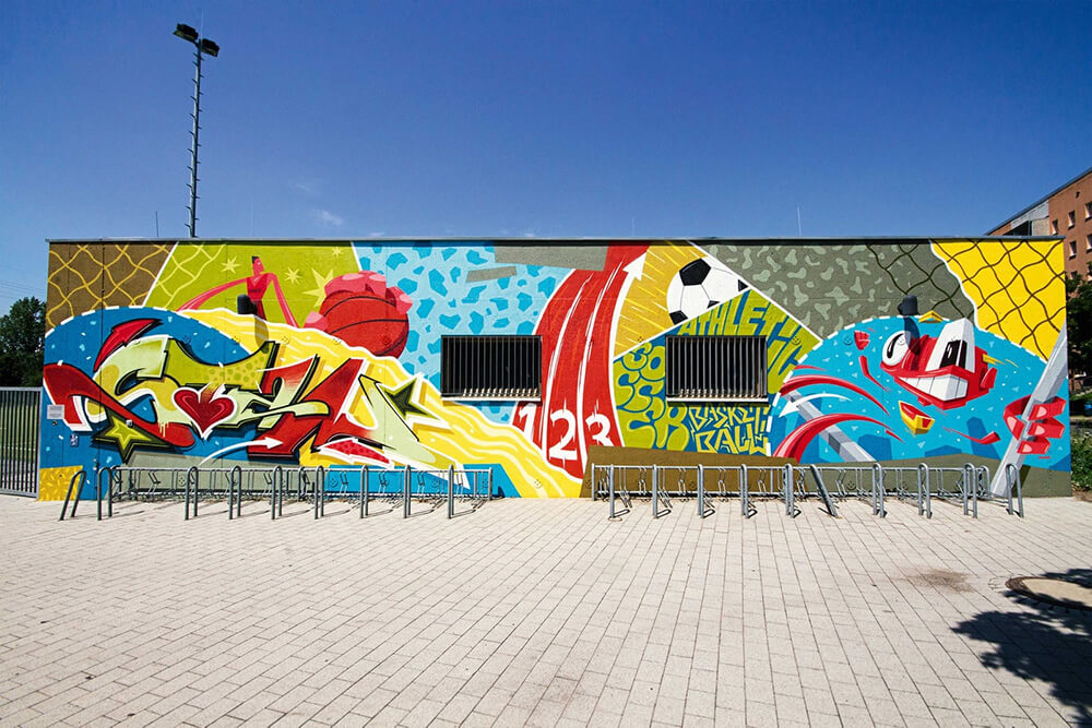 Berliner Immobilienmanagement Outdoor Graffiti Art