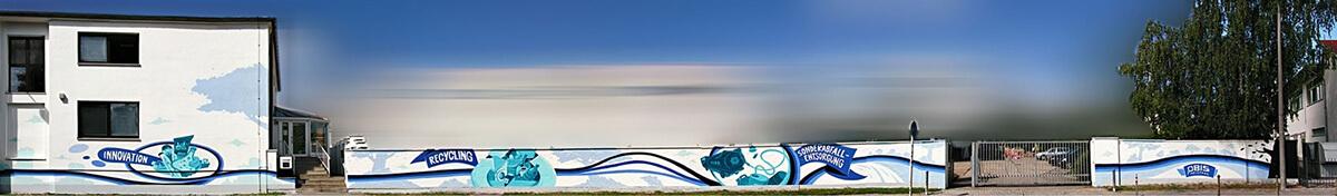 ALBAGROUP: Graffiti auf Gebäudewand