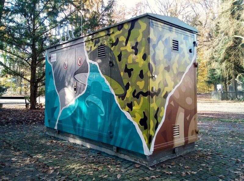 GASAGStrom & Gas: Graffiti Stil an Anlage