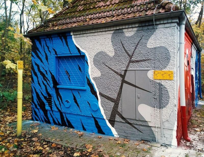 Versorgungsunternehmen GASAG: Graffitiart am kleinen Haus