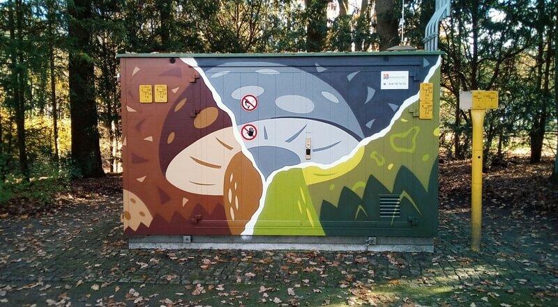Versorgungsunternehmen GASAG: Graffiti Gestaltung an Anlage