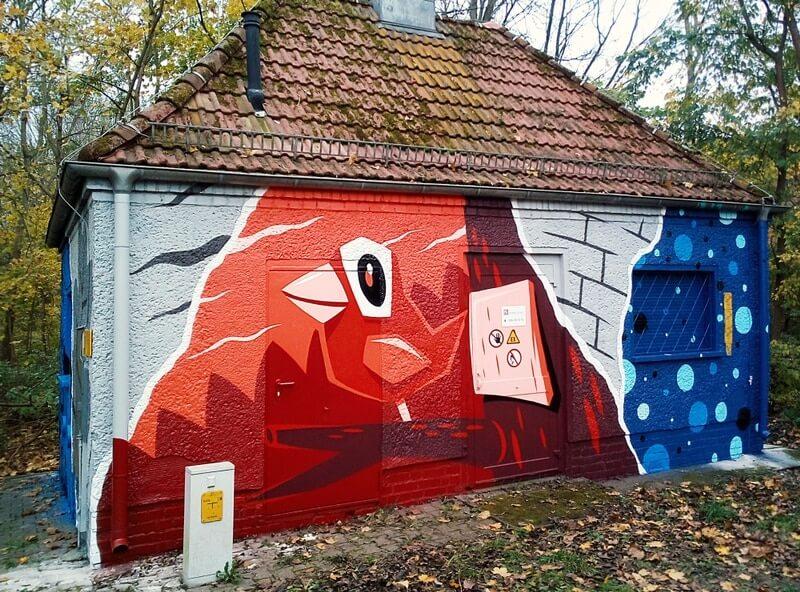 GASAGStrom & Gas: Graffiti Illustration an Anlage