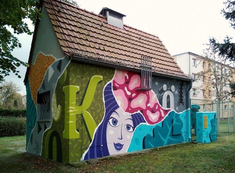 GASAGStrom & Gas: Graffiti Kunstwerk am Haus