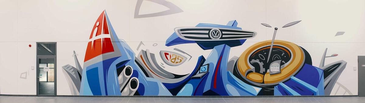 VW abstrakte Illustration für XXL-Werkstätten