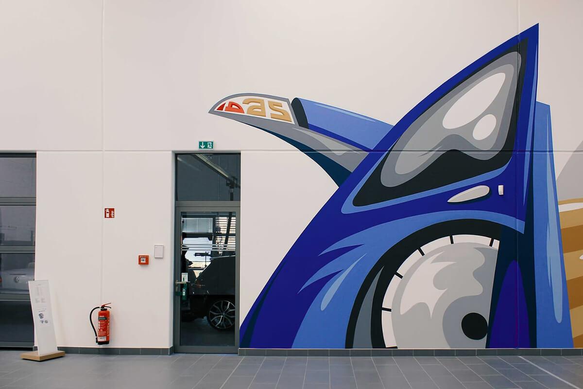 VW Indoor Illustration
