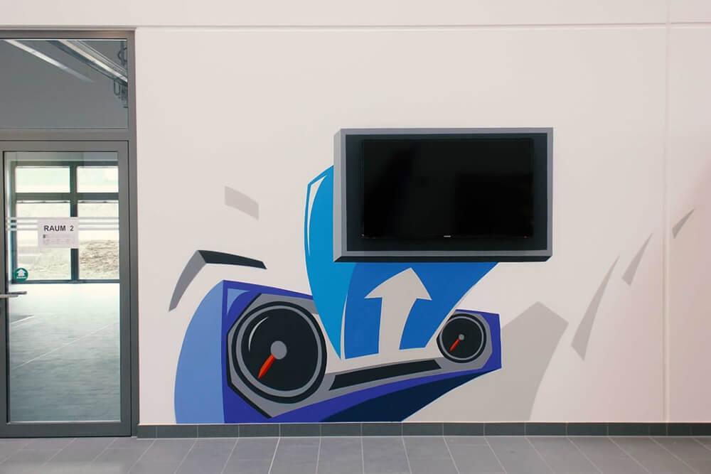 VW moderne Graffiti Kunst für Qualifizierungszentren Innengestaltung