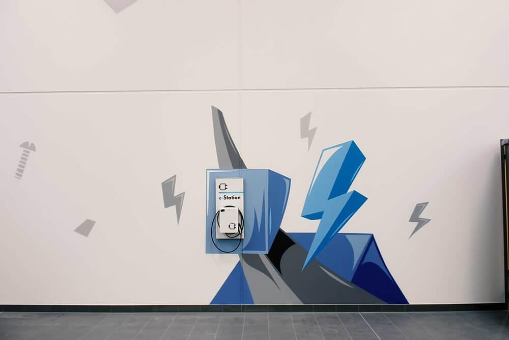 VW moderne Illustration für Qualifizierungszentren Innengestaltung