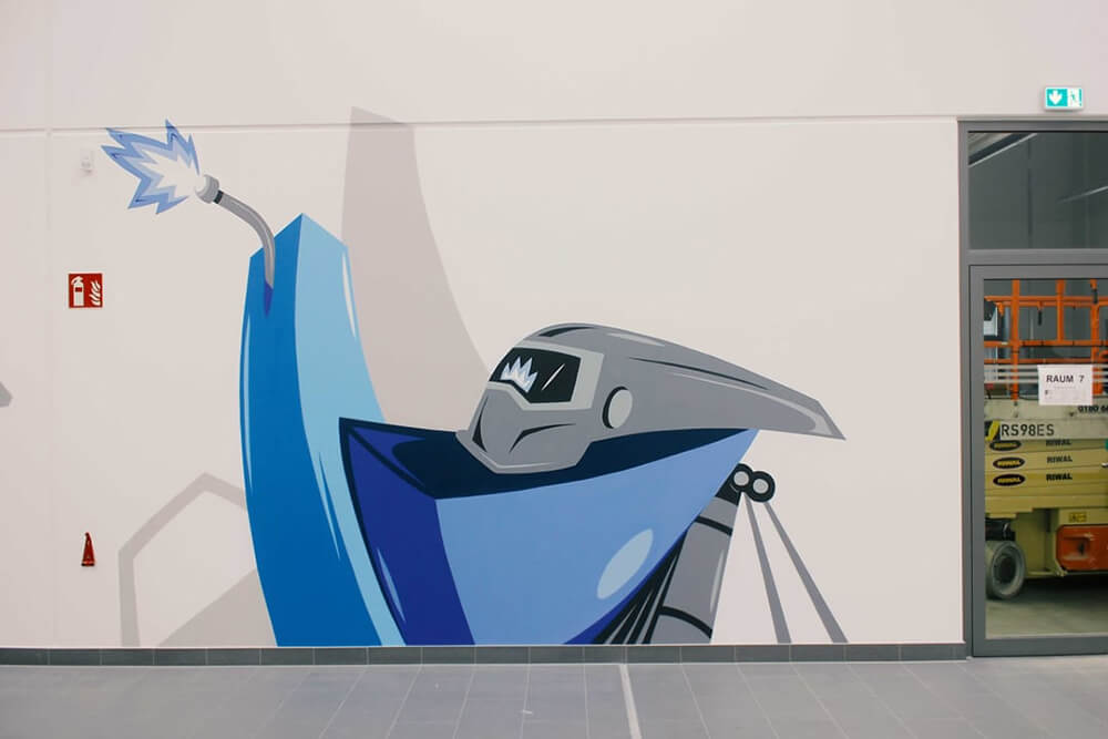 Volkswagen bunte Illustration Gestaltung