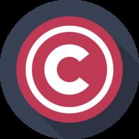 copyright logo badge