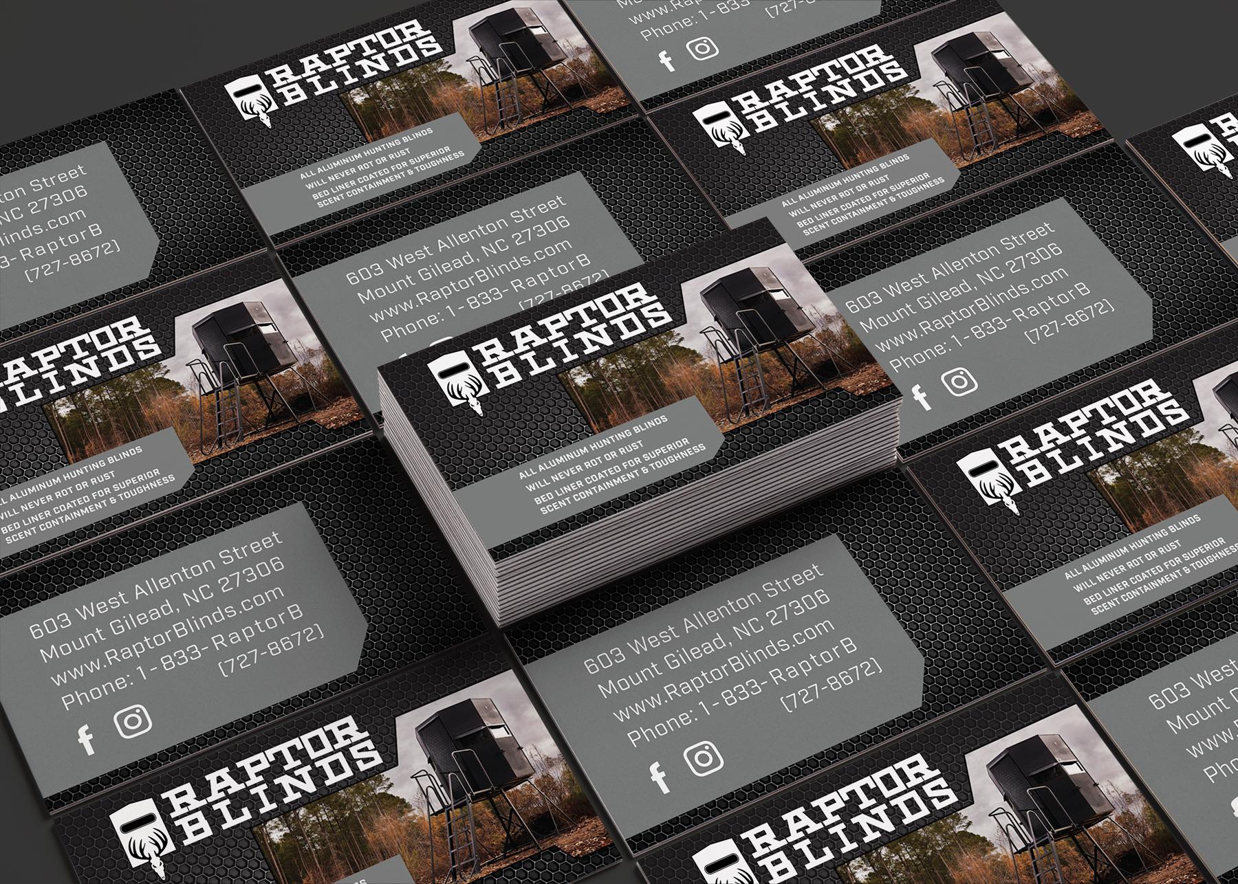 Raptor Blinds Business Card Mockup