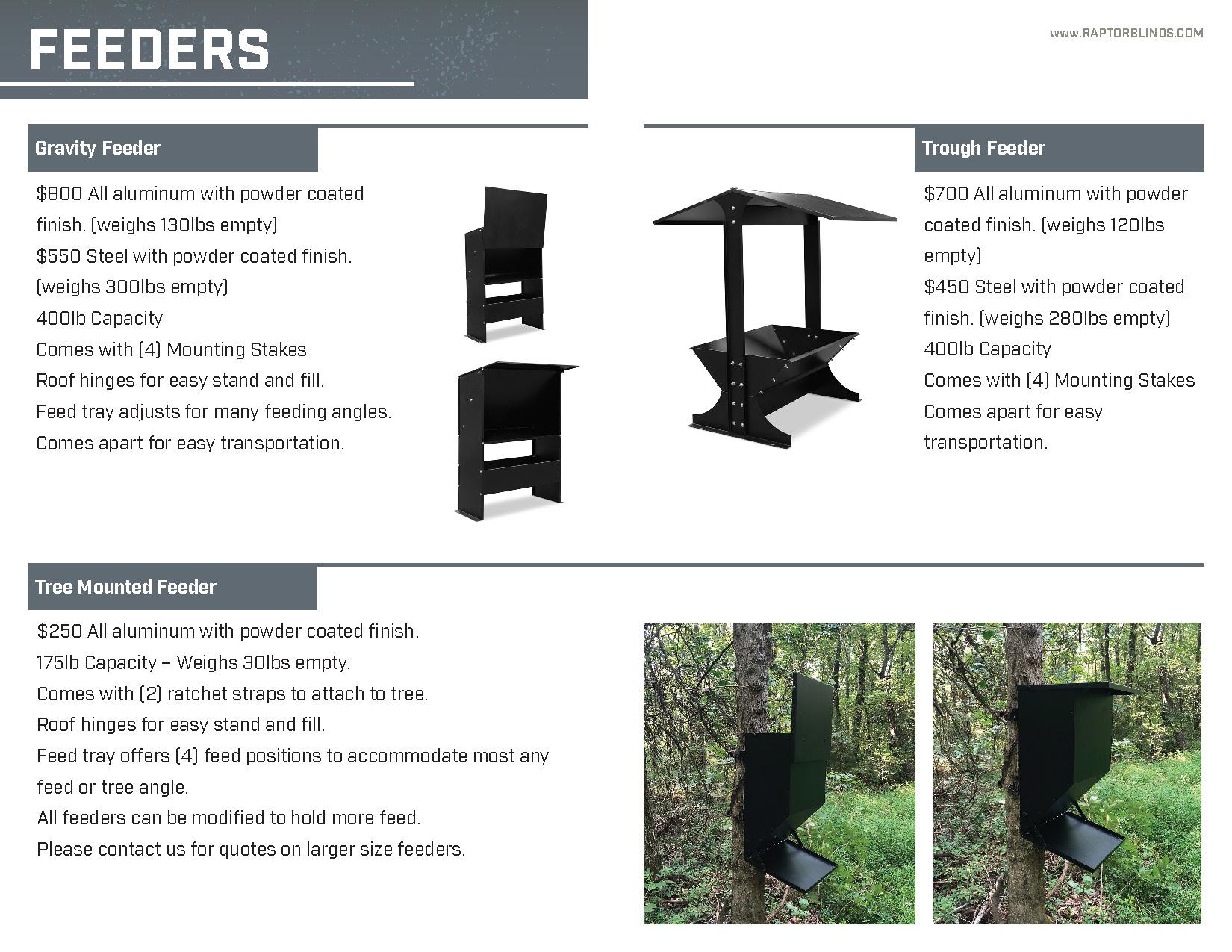Raptor Blinds Catalog Spread pages 5-6
