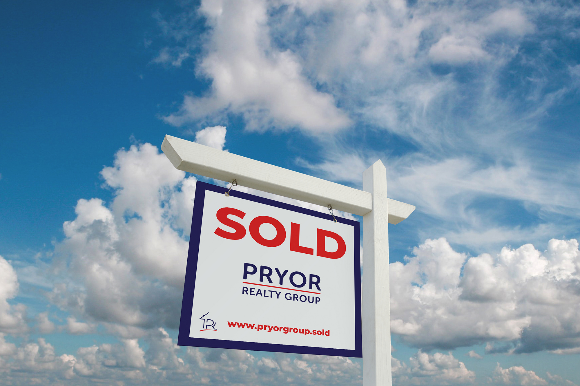 Pryor Realty Sold Sign Mockup