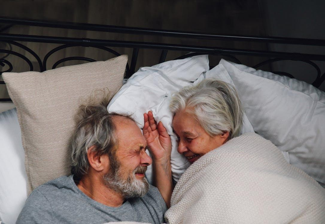 Free stock photo of bed, cute, elderly couple