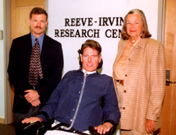 Joan Irvine-Smith with Christopher Reeve and Oswald Steward