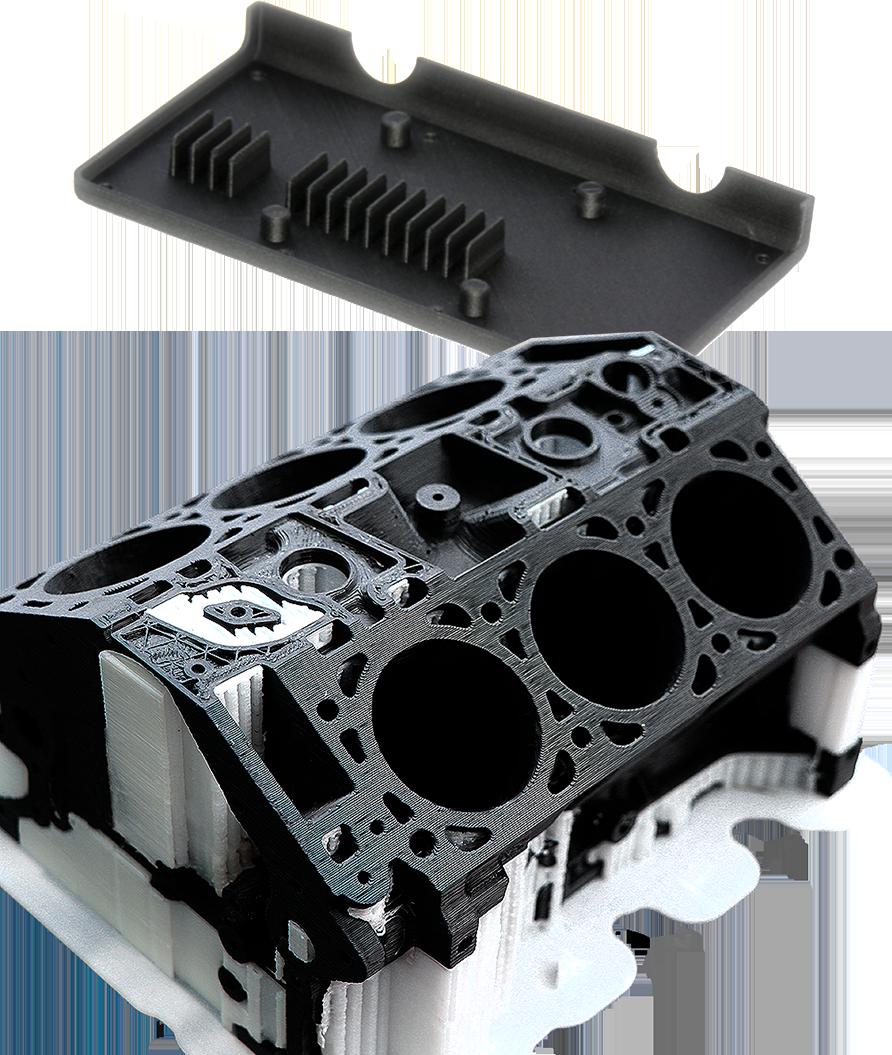 Sample 3d print in 3DXTech carbon fibre filament printed on INTAMSYS funmat HT 3d printer