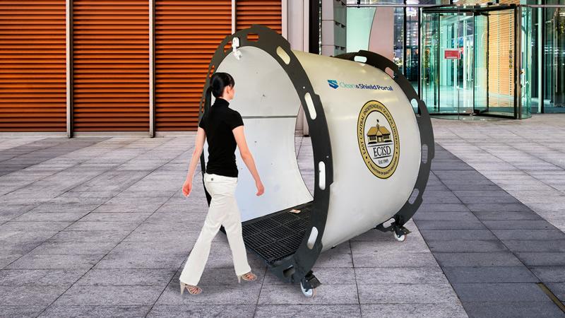 Clean and Shield custom logo disinfecting portal