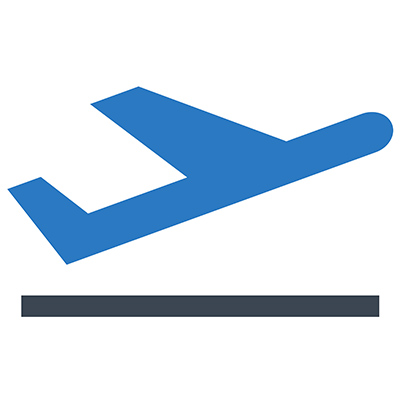 Clean and Shield icon for aviation