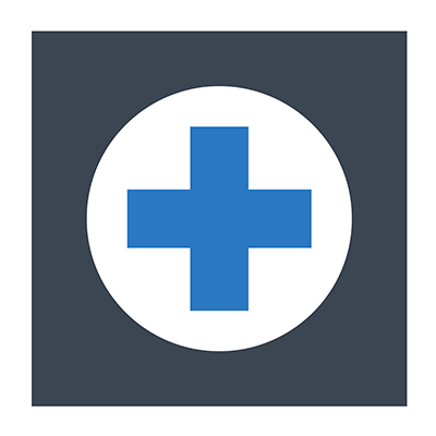 Clean and Shield icon for healthcare