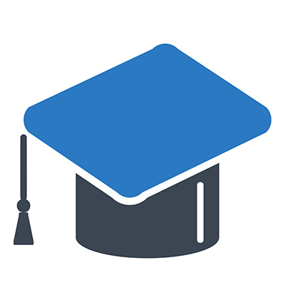 Clean and Shield icon for education