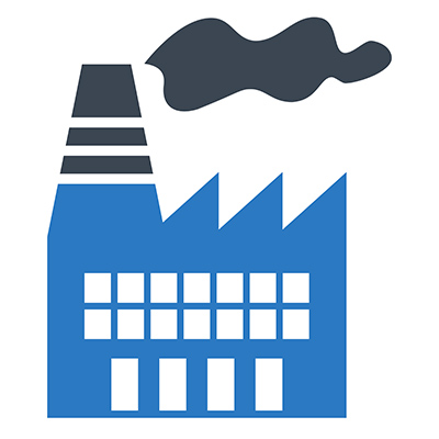 Clean and Shield icon for manufacturing