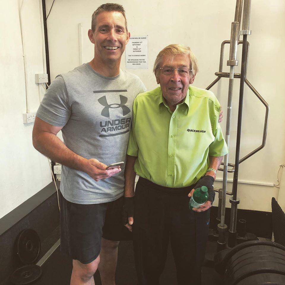 Infitness owner with client