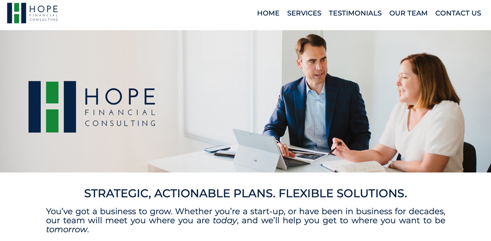 Hope Financial Consulting Website