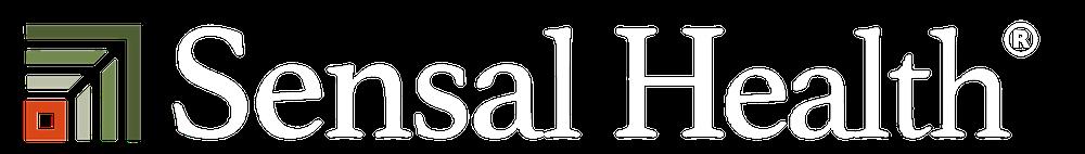 Sensal health logo white