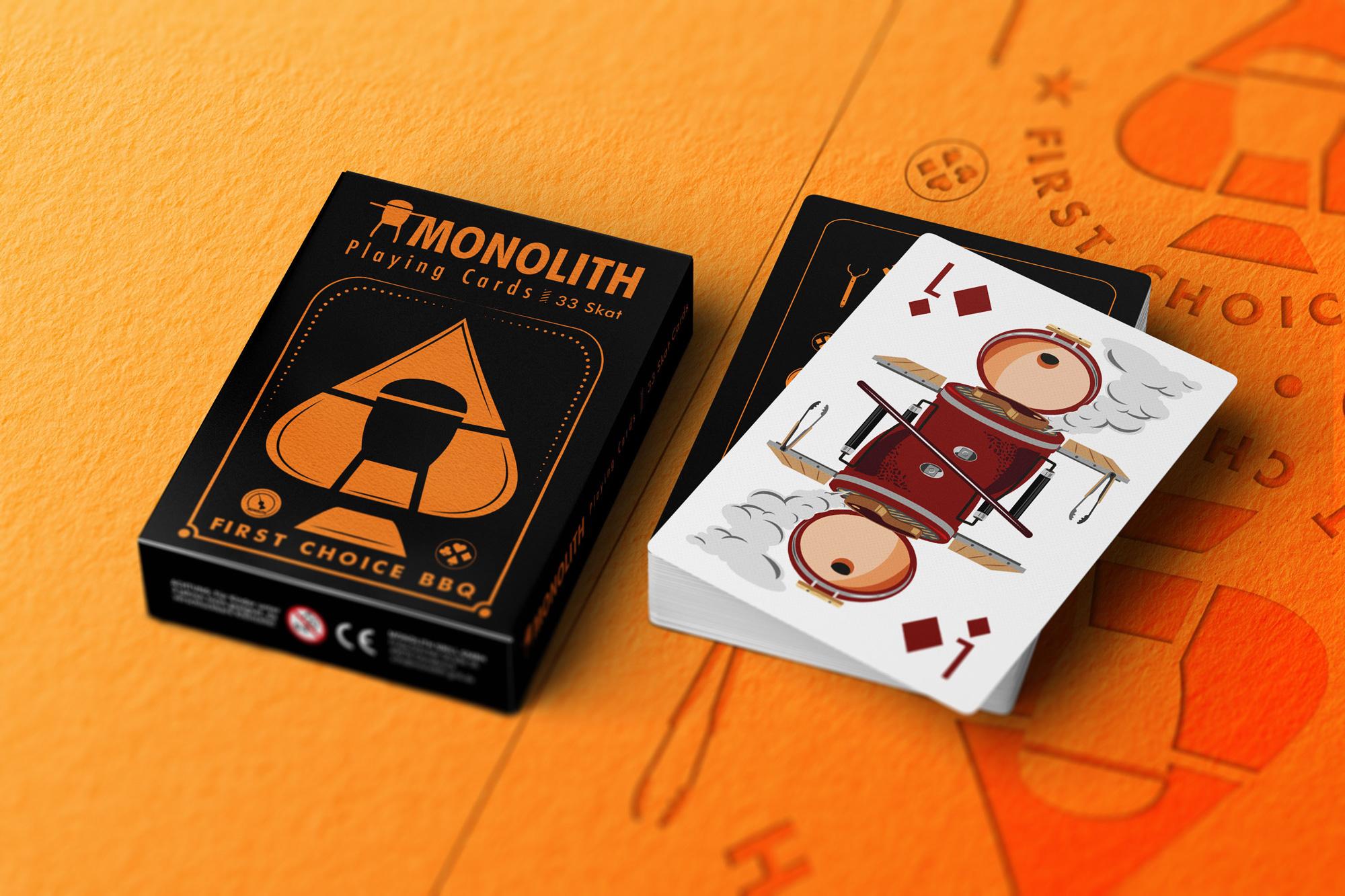 Monolith Spielkarten Design
