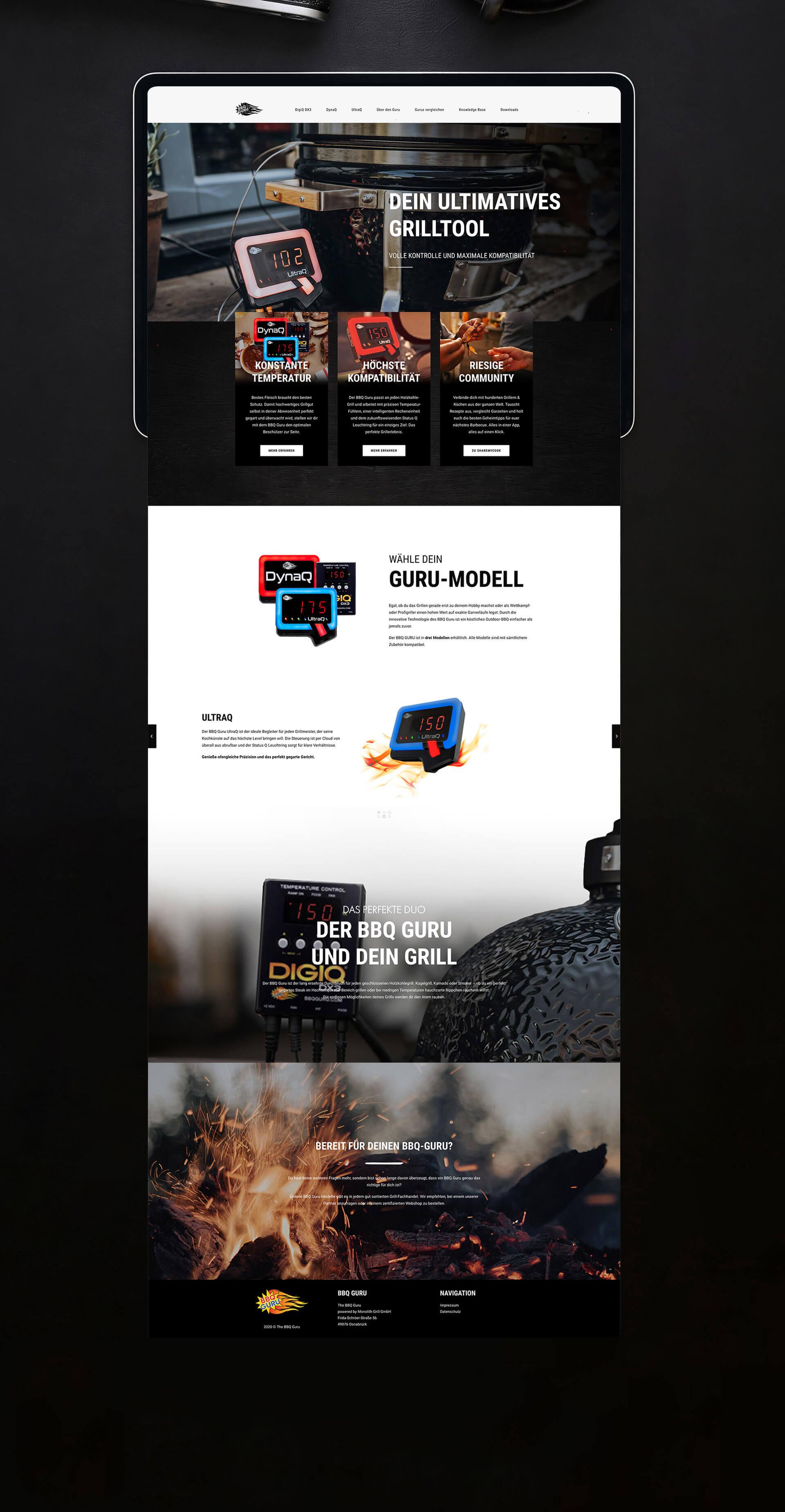 Professionelles Webdesign BBQ Guru
