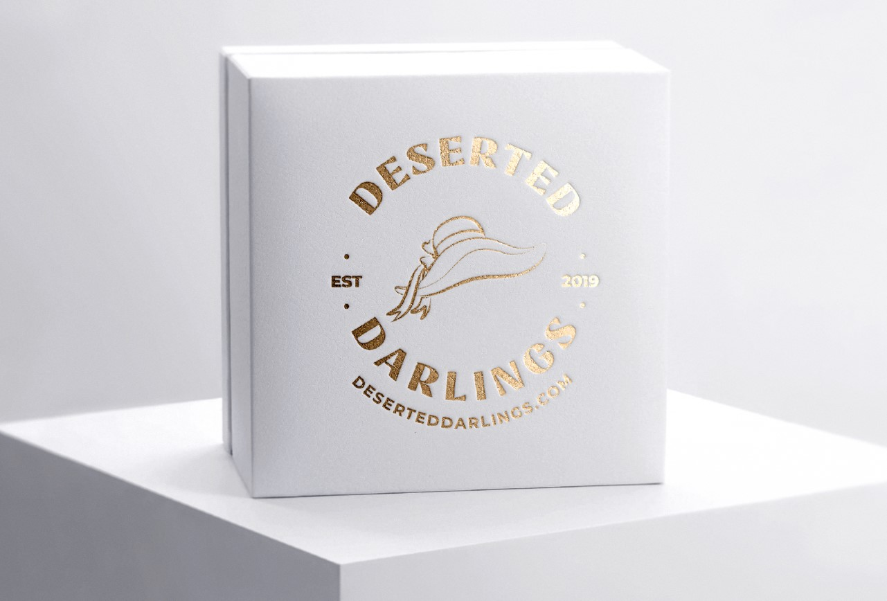 Deserted Darling logo on box