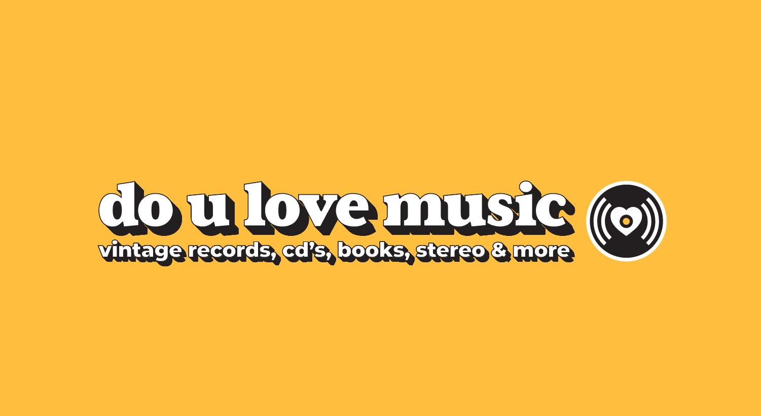 Brand identity for do u love music record shop