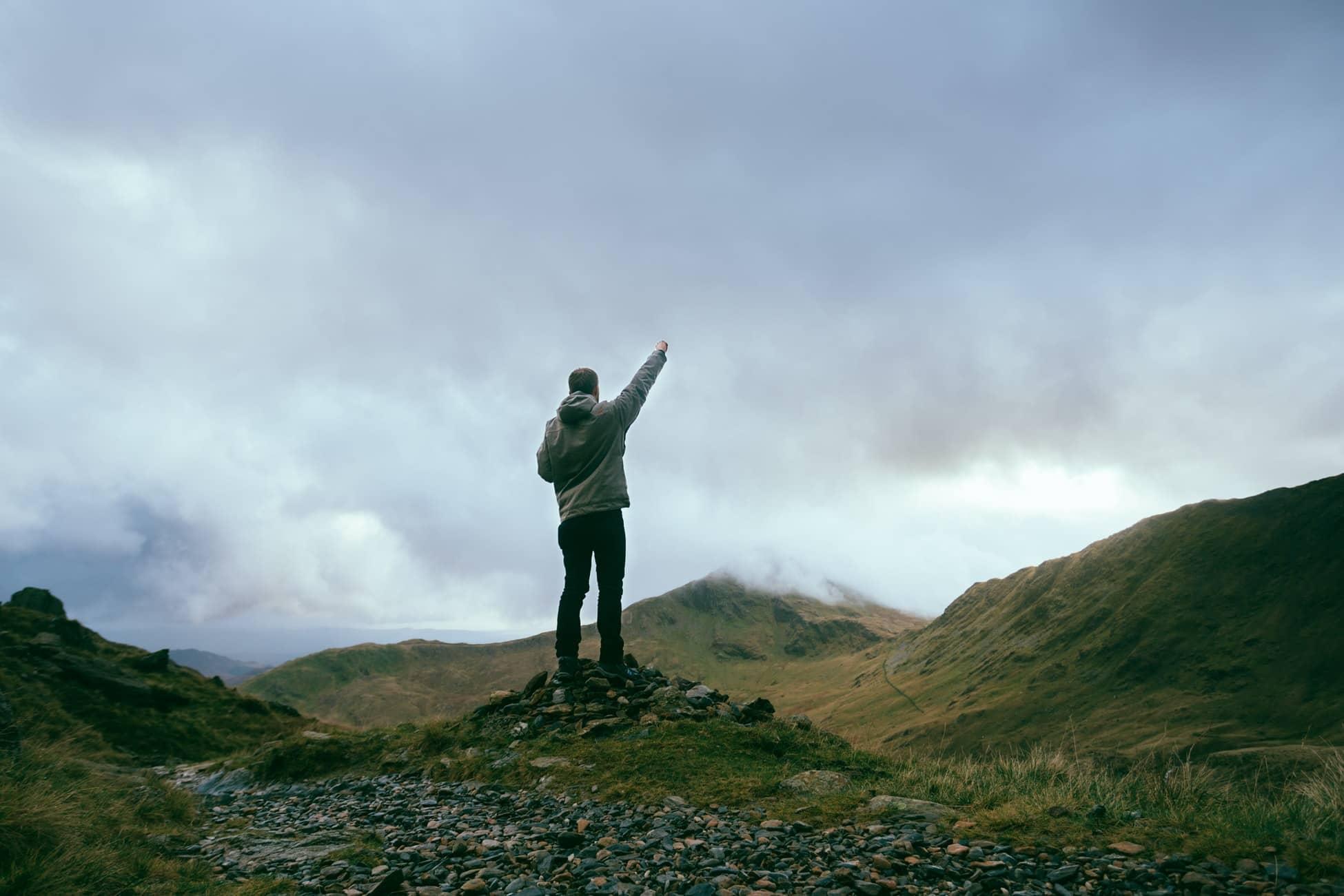 Randonnée en montagne dans la nature