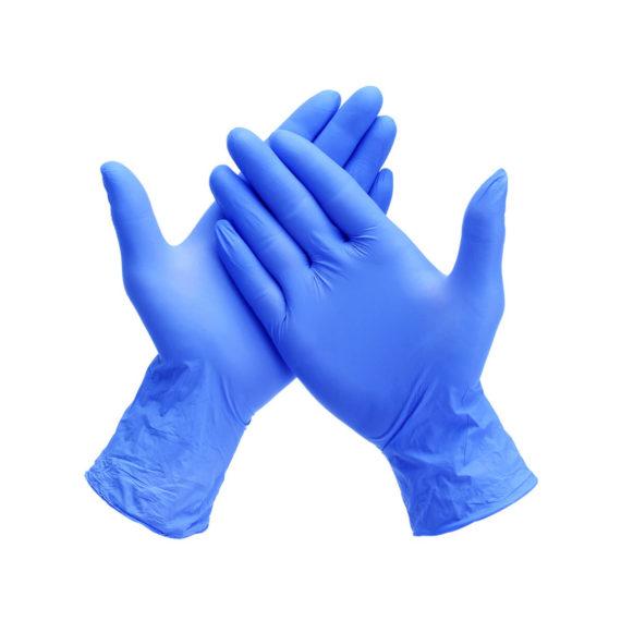 BLUE MEDICAL NITRILE GLOVES - POWDER-FREE, DISPOSABLE