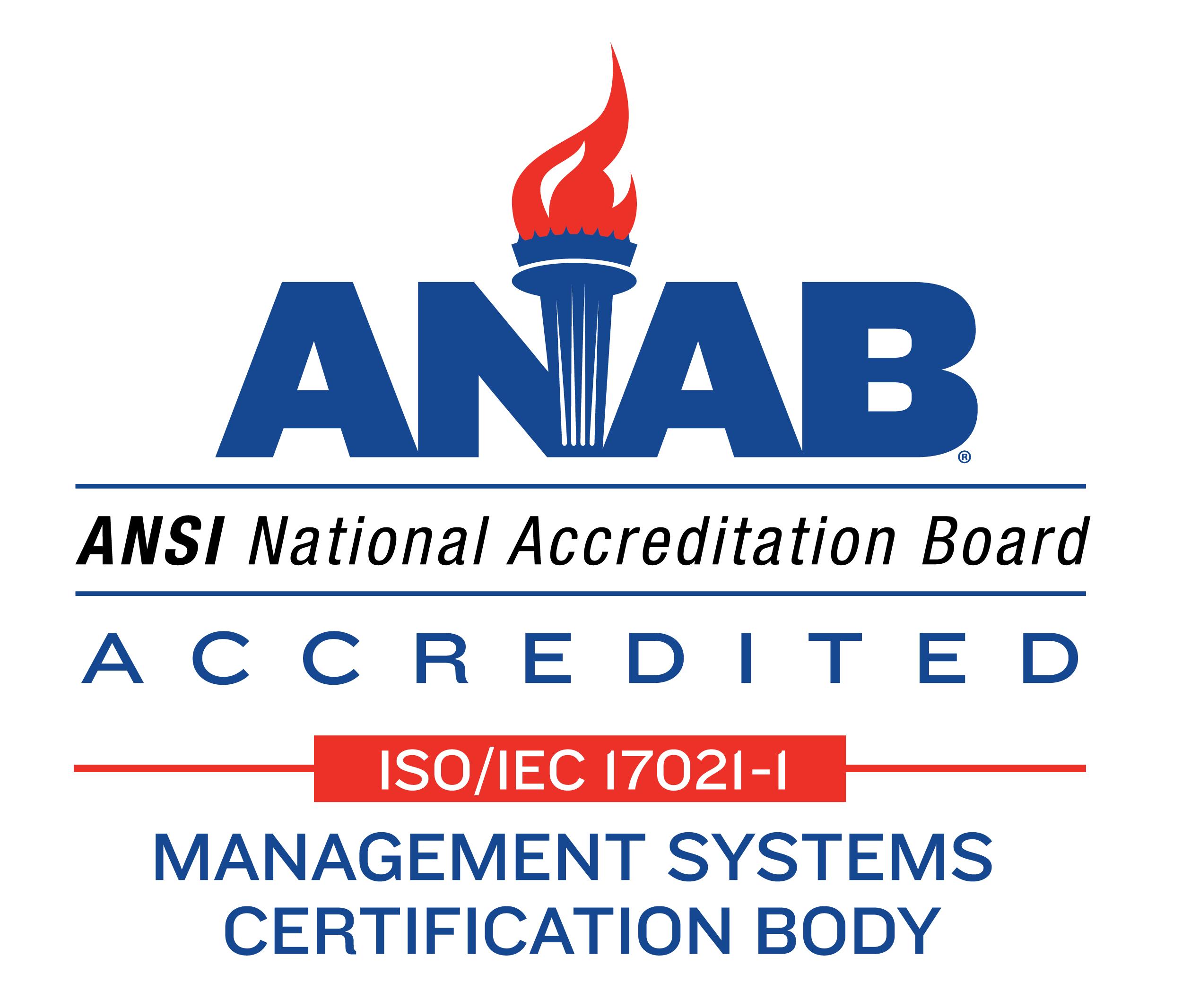 ANSI National Accreditation Board - ANAB logo