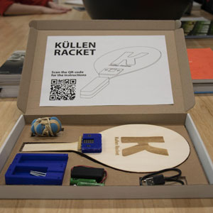 Embrace students Dhruvil, Rens, Long & Lars made an ikea style buildable racket game