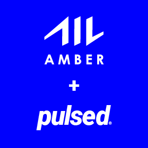 Amber and Pulsed company logo's combined