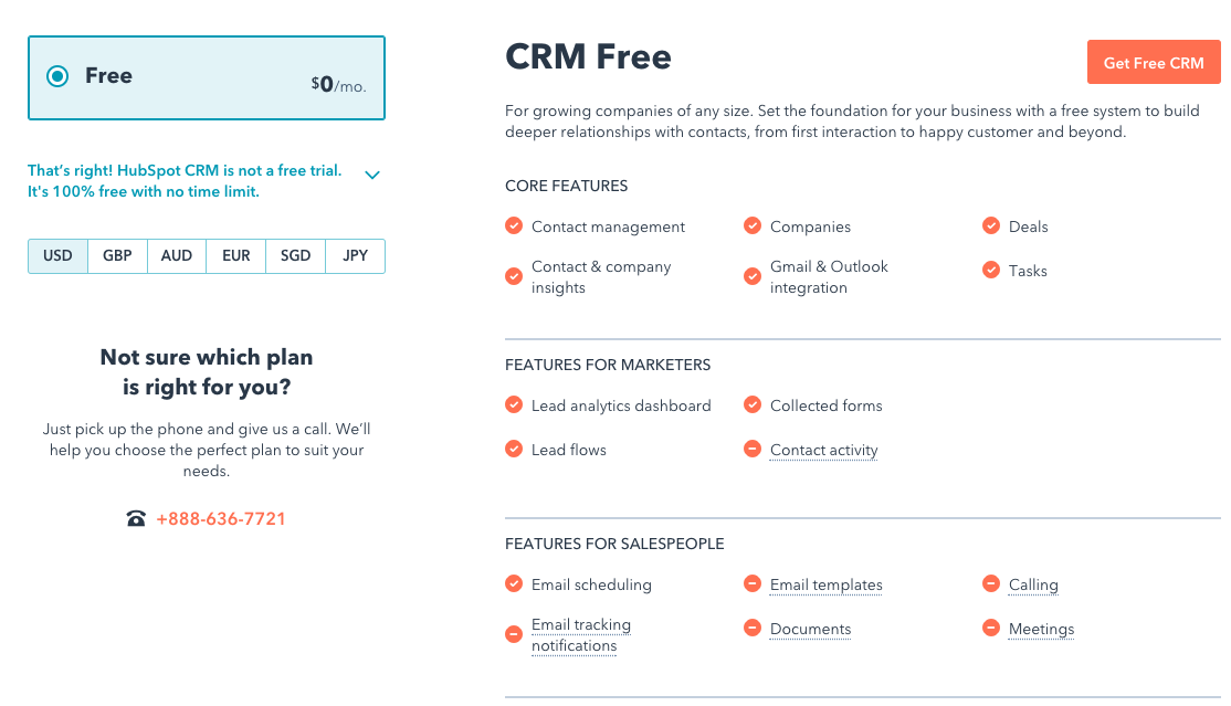 HubSpot CRM the free CRM