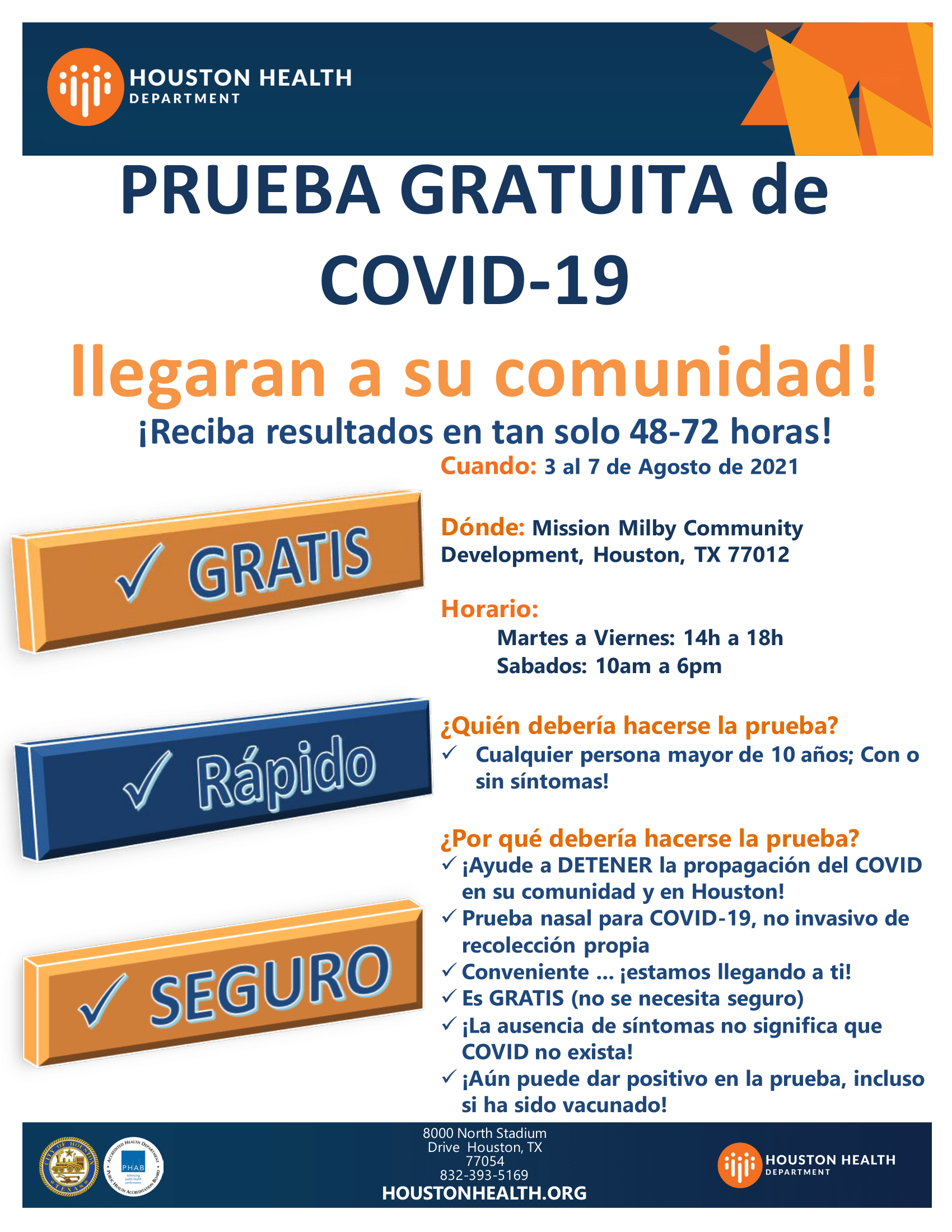 Spanish flyer for 2nd dose of COVID-19