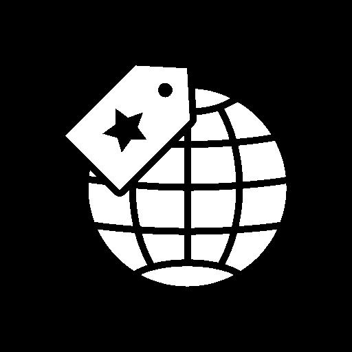 illustration of white globe