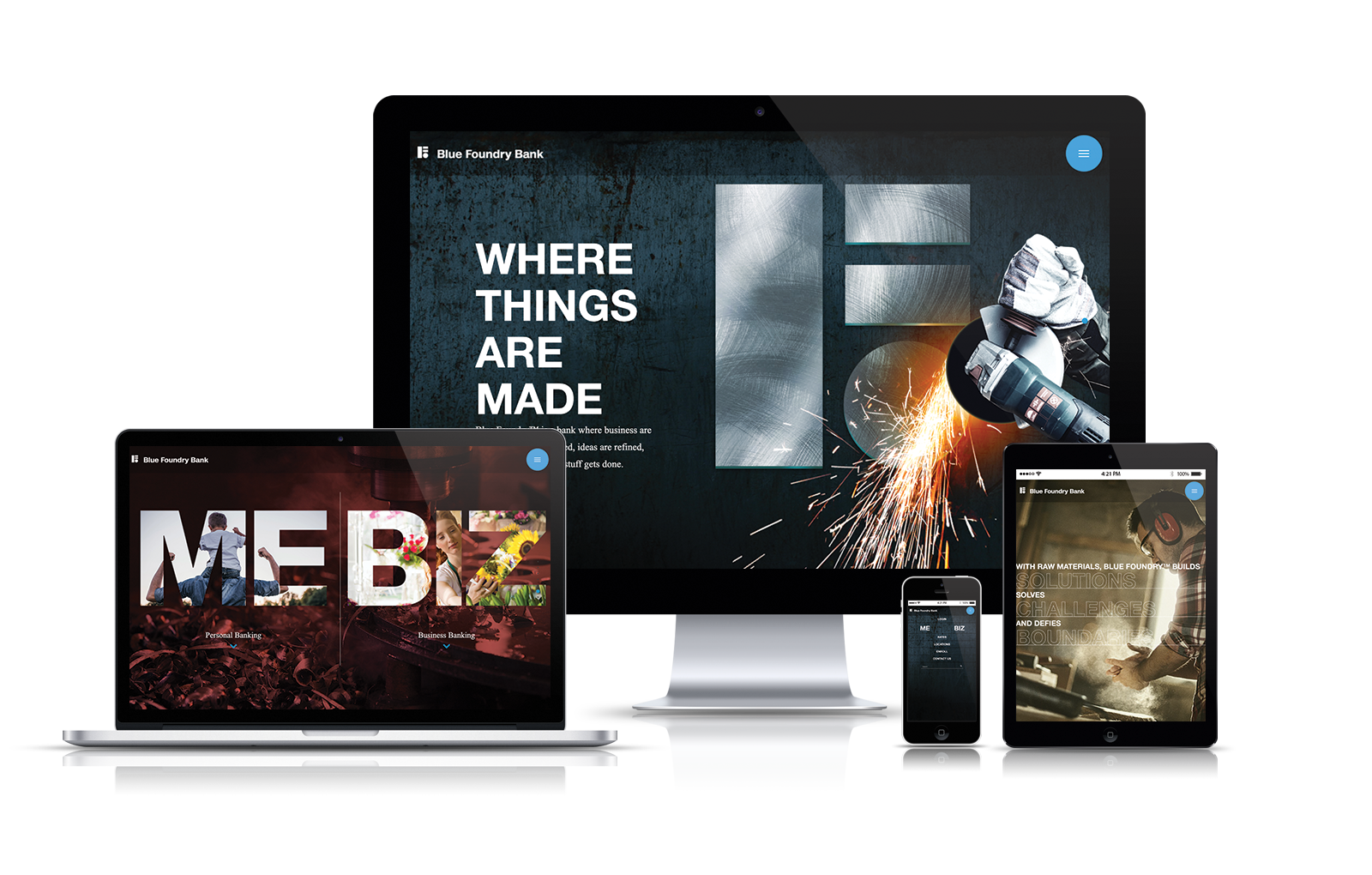website design and development for Blue Foundry Bank