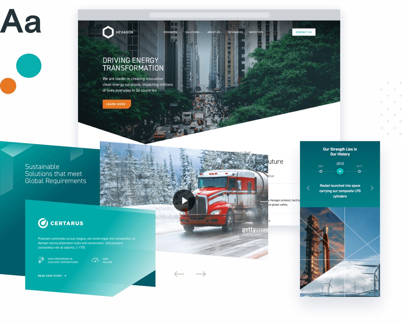 website design project for company