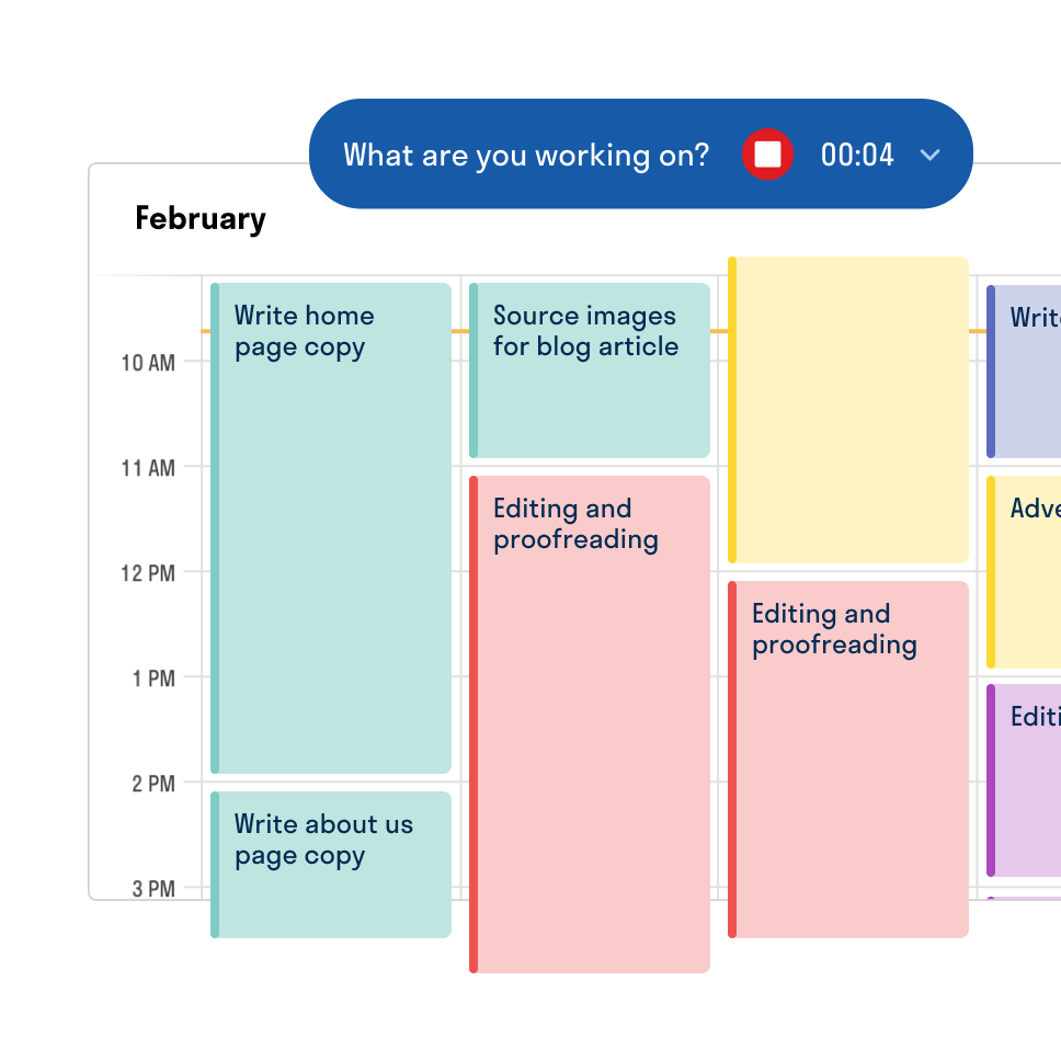 Hectic time tracking for freelancers UI illustration