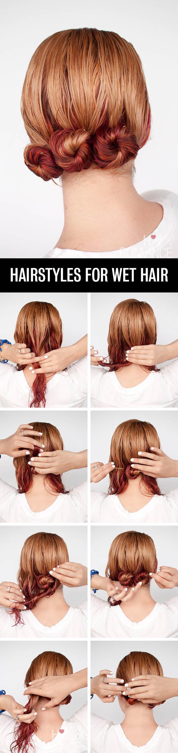 Hair-Romance-Hairstyle-tutorials-for-wet-hair-the-low-twist-bun