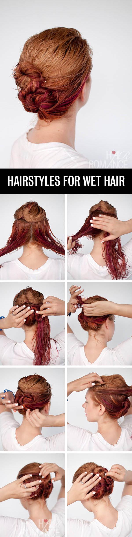 Hair-Romance-Hairstyle-tutorials-for-wet-hair-the-loose-triple-bun