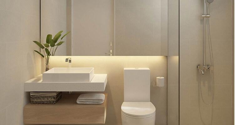 Phòng tắm căn hộ mẫu Palm Heights 3 phòng ngủ (loại nhỏ)