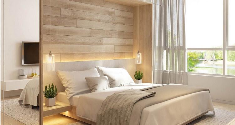 Phòng ngủ căn hộ mẫu Palm Heights 3 phòng ngủ (loại nhỏ)