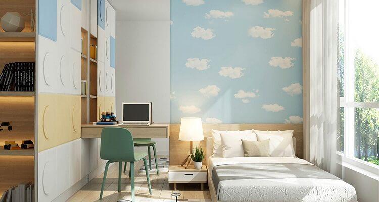 Phòng ngủ trẻ em căn hộ mẫu Palm Heights 3 phòng ngủ (loại nhỏ)
