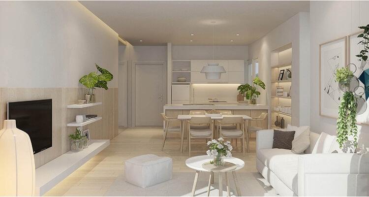 Phòng bếp căn hộ mẫu Palm Heights 3 phòng ngủ (loại nhỏ)