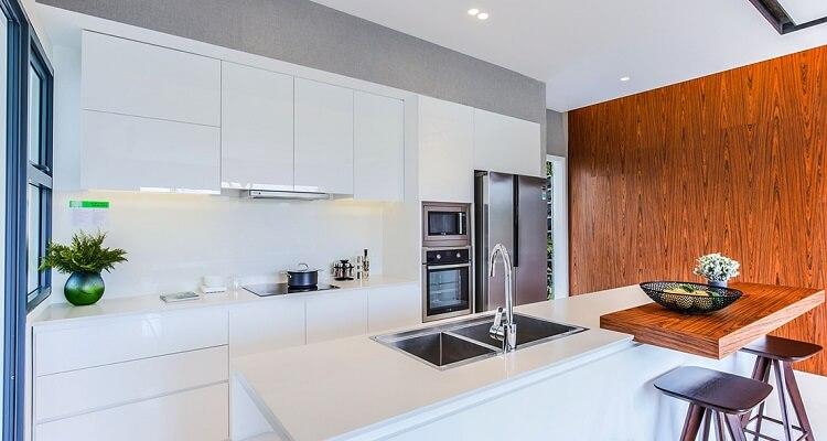 Phòng bếp căn hộ mẫu Palm Heights 3 phòng ngủ (loại lớn)